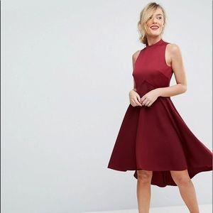Ted Baker Kandal Dropped Hem Asymmetrical Dress BN
